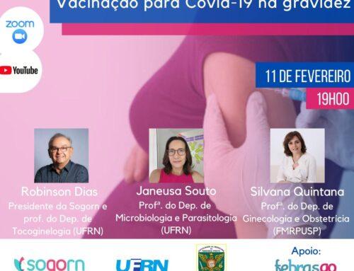 Evento virtual debate vacinação para Covid-19 na gravidez, nesta quinta-feira (11)
